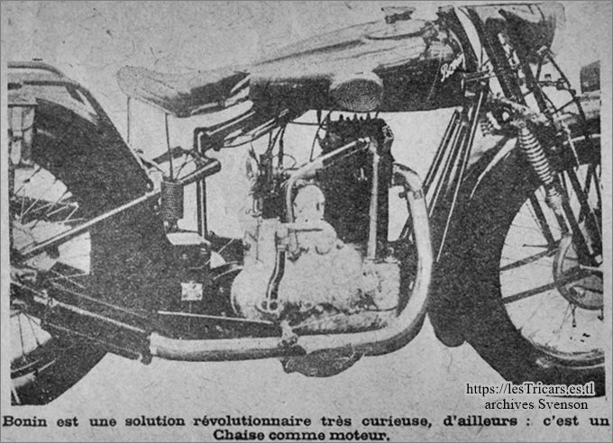 moto Bonin 1928, moteur Chaise