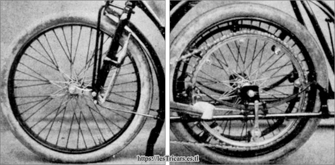 Bonin, motocyclette 1905. détails suspension