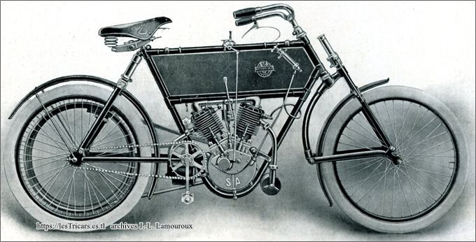 moto Stimula 1906 à deux cylindres