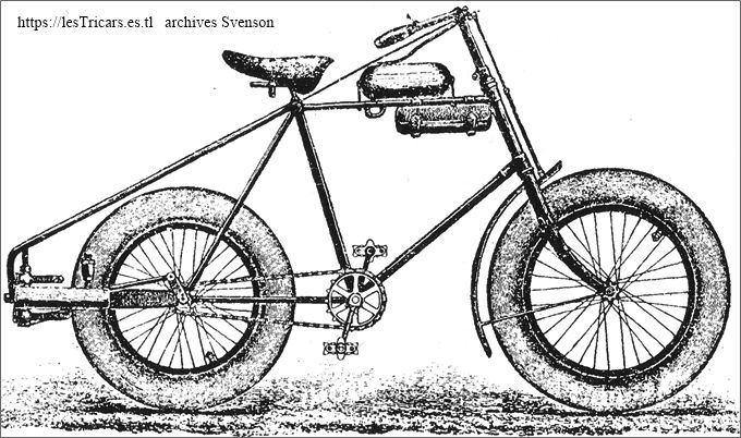 dessin d'une motocyclette de la Motorcycle Company
