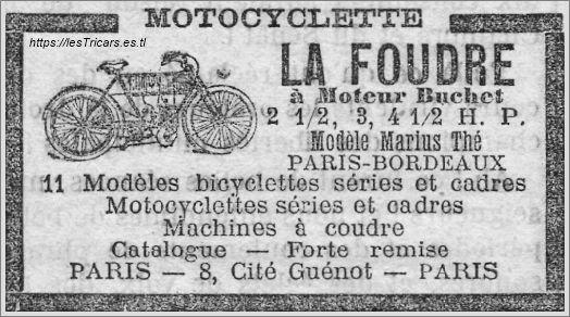 La Foudre, publicité 1904