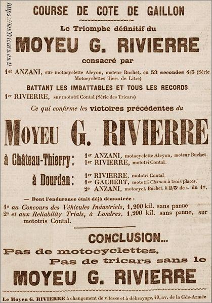 1905 publicité moyeu Rivierre