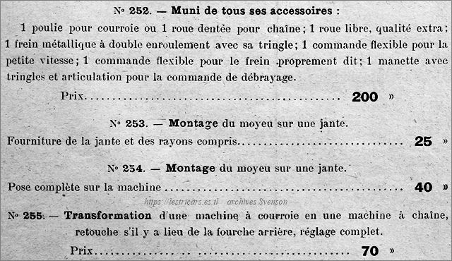 Moyeu Rivierre, accessoirs, prix, montage