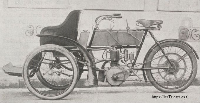 tricar Chanon, modèle 1905