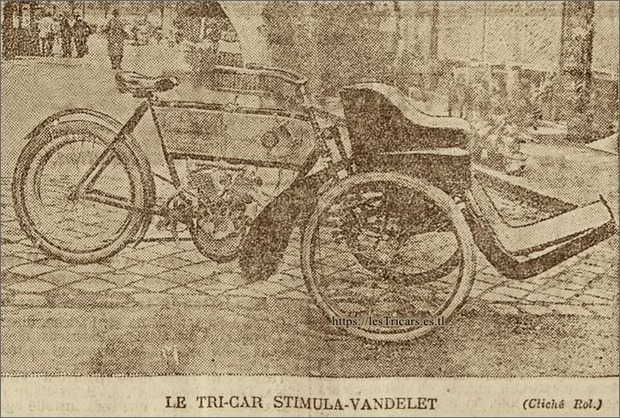tricar léger 4-5 HP, 1905
