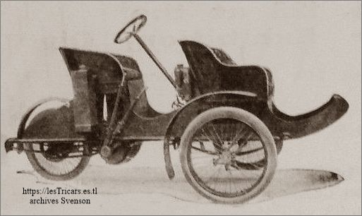 Photo d'une trivoiturette Ivry, 1906