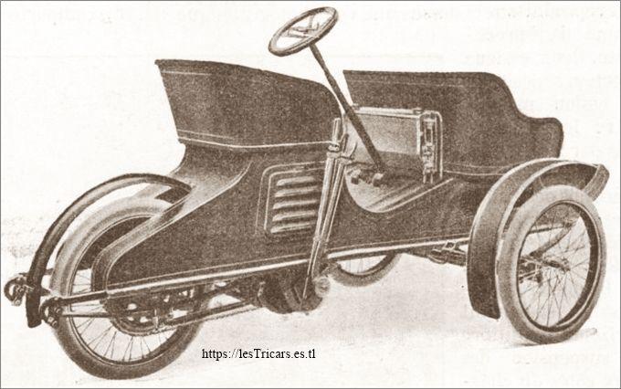 Ateliers d'Ivry, tri-voiturette, vue arrière
