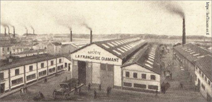 Usine La Française Diamant, dessin 1913