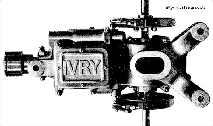 différentiel et changement de vitesse de la voiturette Ivry, photo