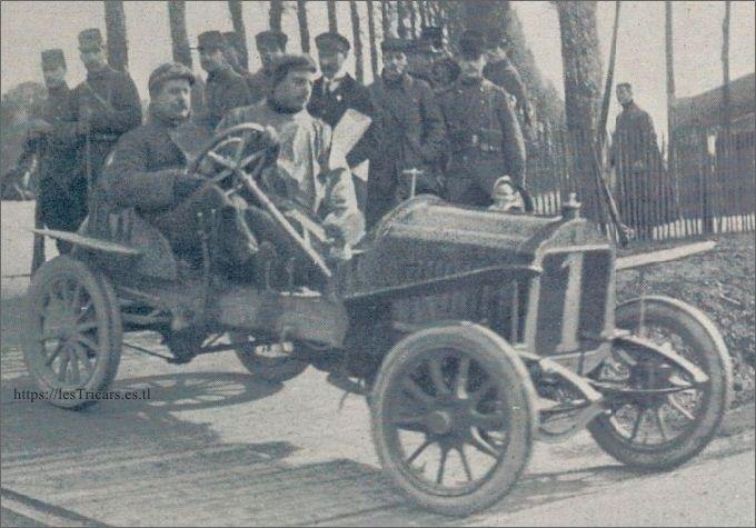 Victor Rigal sur voiturette Werner 1907