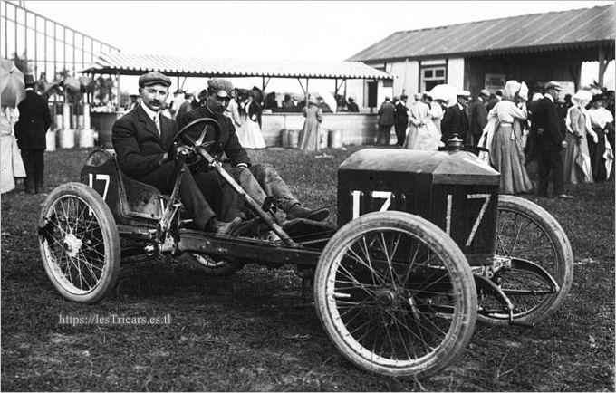 Dieppe 1908, Leon Molon sur voiturette Werner