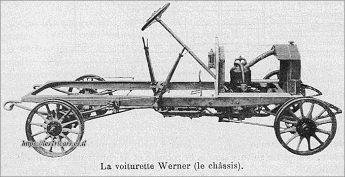 Châssis de la voiturette Werner, photo