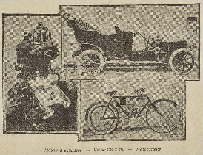 La voiturette, le moteur et la motocyclette Werner