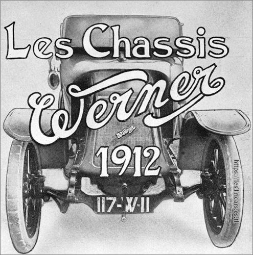 """affiche """"Les châssis Werner"""" 1912"""