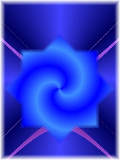 Erzengel michael blauer mantel