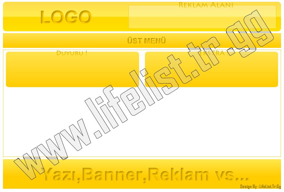 Sarı-Beyaz Tasarım