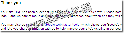 Google'a Site Eklemek / Google Add URL ( Resim 2 )
