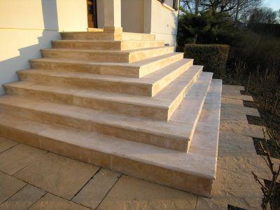 Pierre de bourgogne escaliers - Habillage escalier beton exterieur ...