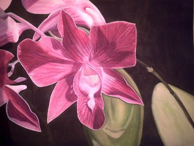 """gemalte Bilder, """"Ein Thailändischer Blumengruß"""", Realismus, gemalt von Elisabeth, Lissa Wenderoth Künstlername, Lisa Becker-Schmollmann, Künstlerin, Malerin"""