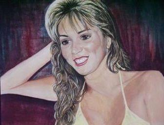 Bildtitel: Silvi mit 17, gemalte Portraits, Bilder, elisabeth becker-schmollmann, Künstlername, Pseudonym Lisa Wenderoth, Lisa Sinnpflug