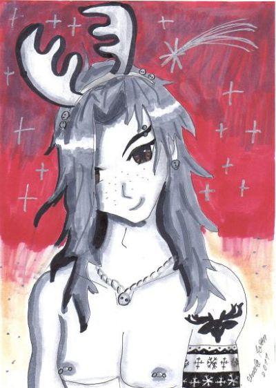 Weihnachtsbilder Elch.Ursulas Hompage Manga Weihnachtsbilder