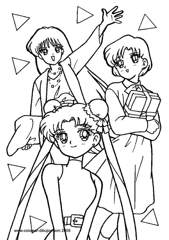 Amigas Anime Para Colorear picture gallery