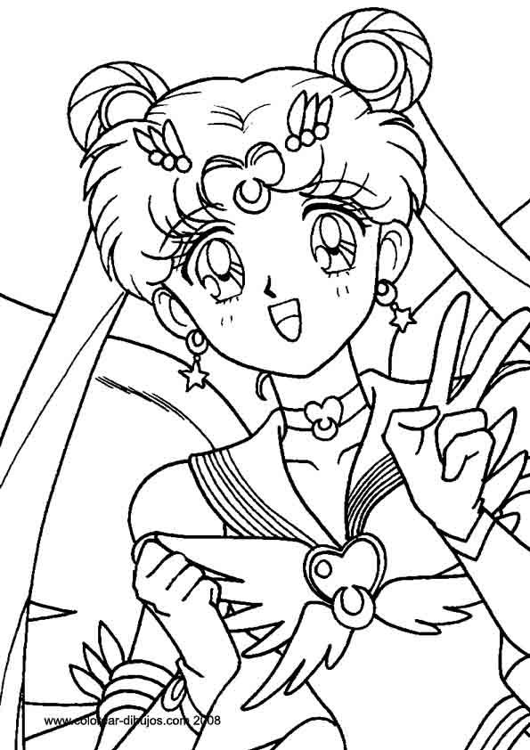 Fantástico Anime Para Colorear Ornamento - Dibujos Para Colorear En ...