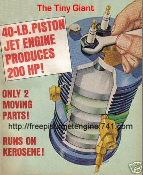 Free Piston Jet Engine Plans
