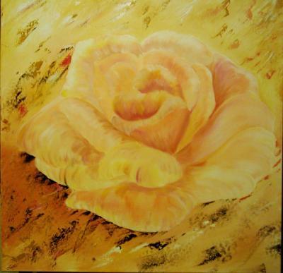 Rose der unschuld 90x90x3 cm der bilderrand ist mitbemalt nr b17 nicht