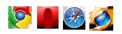 Chrome, Opera, Safari y Mozilla Firefox