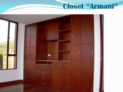 Madera espacios closets for Closet de madera para dormitorios