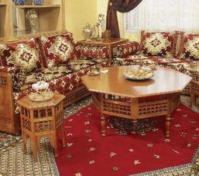 ameublement marocain table salon marocain. Black Bedroom Furniture Sets. Home Design Ideas