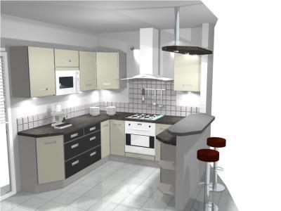 Cuisine incorpor e table de cuisine for Modele cuisine incorporee