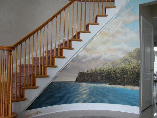 فن رسم ثلاثي الابعاد على جدران منزلك يضيف نشاط و