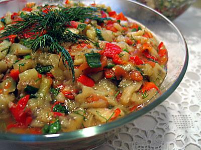 patlıcan salatası lezzetli