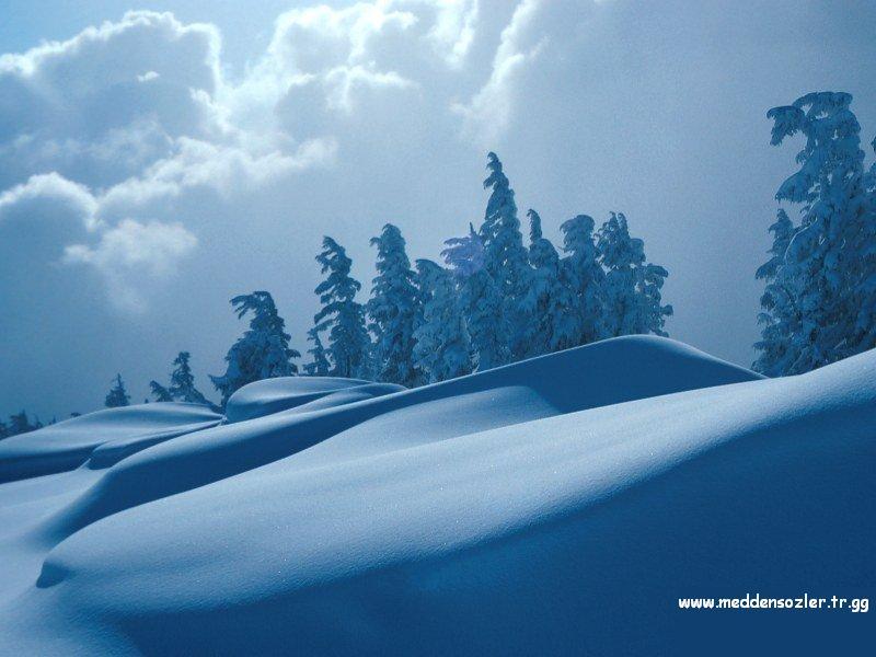 kar ve gökyüzü