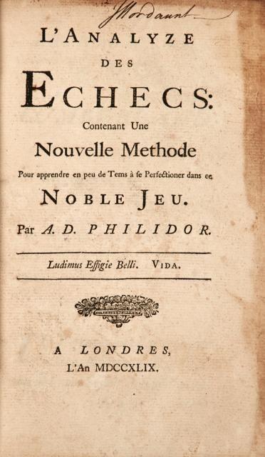 Philidor, Analyze des Echecs