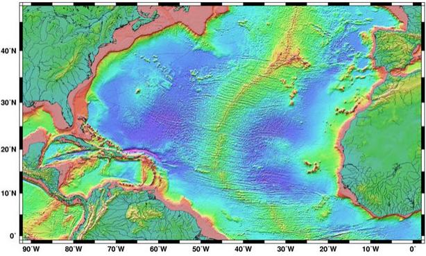 Atlantis, map, harita