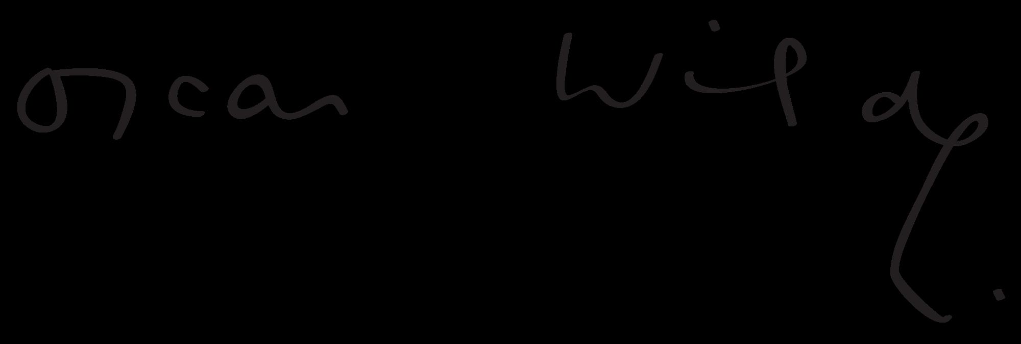 oscar wilde, imza, signture
