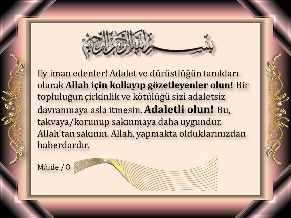 islam, adalet, ayet, maide 8