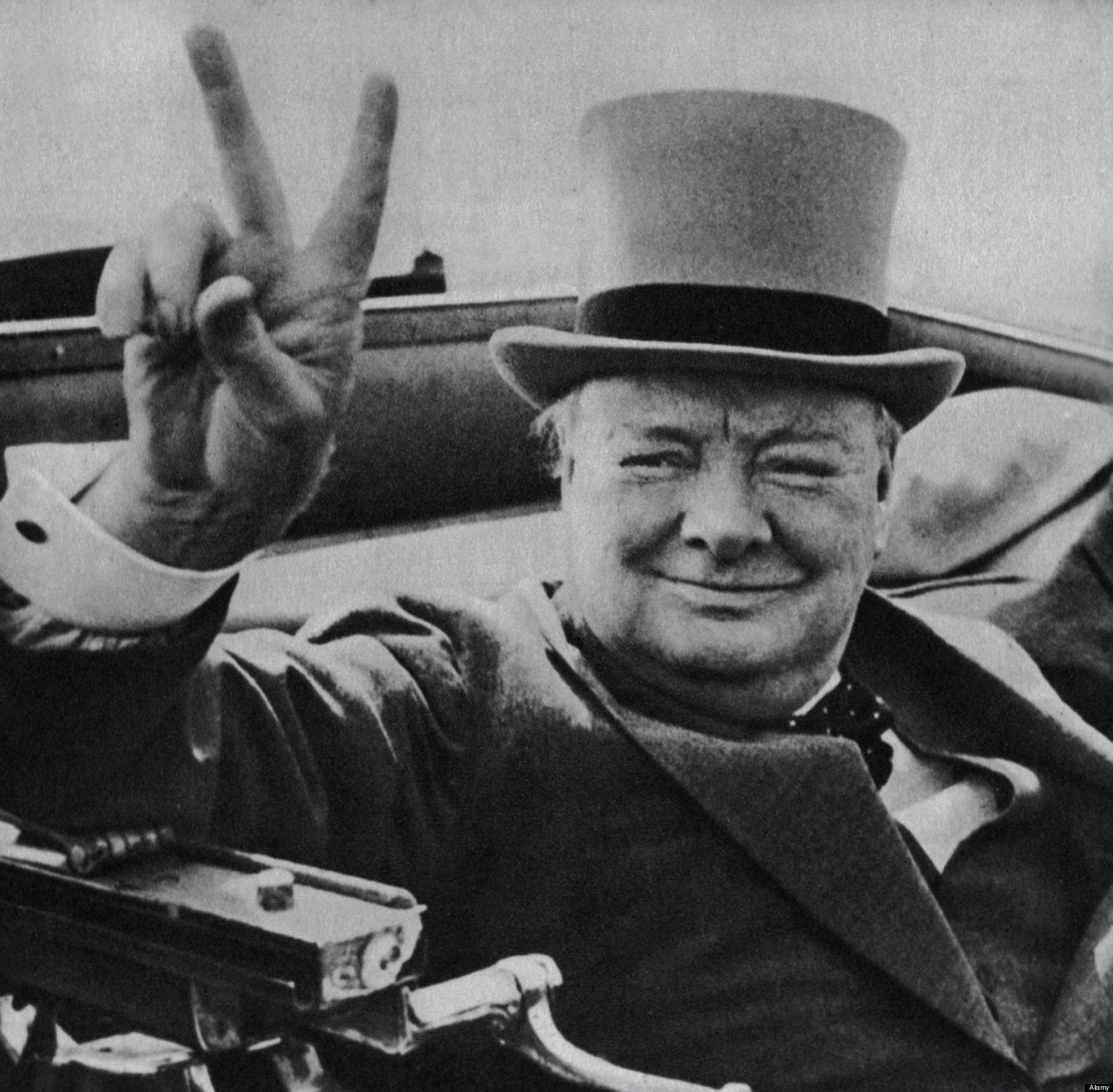 Winston Churchill, v-sign, v işareti, çörçil
