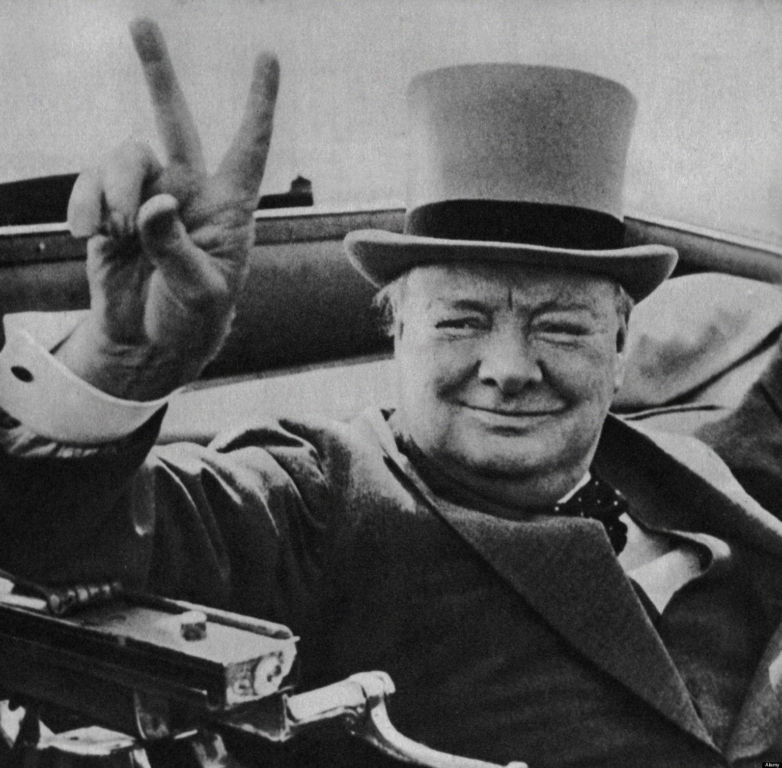 Winston Churchill, v-sign, v işareti, çörçil