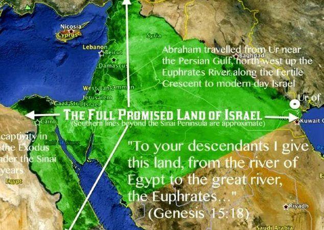 vaat edilmiş topraklar, arzı mevud, promised lands