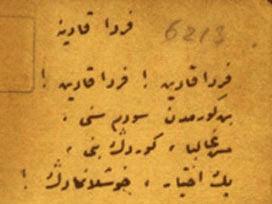Osmanlıca ferda Kadın Şiiri