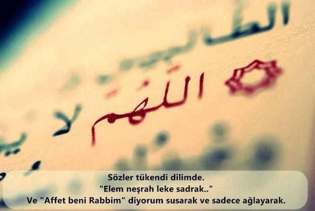 Allah'a Mektup, Dua, Yakarış, Tevbe, Tövbe