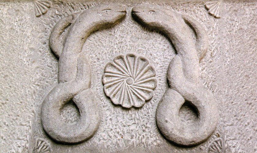 selçuklu, yılan motifi