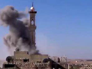 suriye minareye saldırı