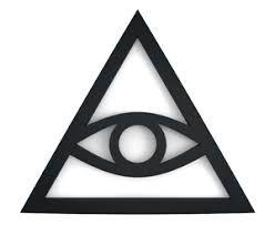 üçgen, göz, illuminati