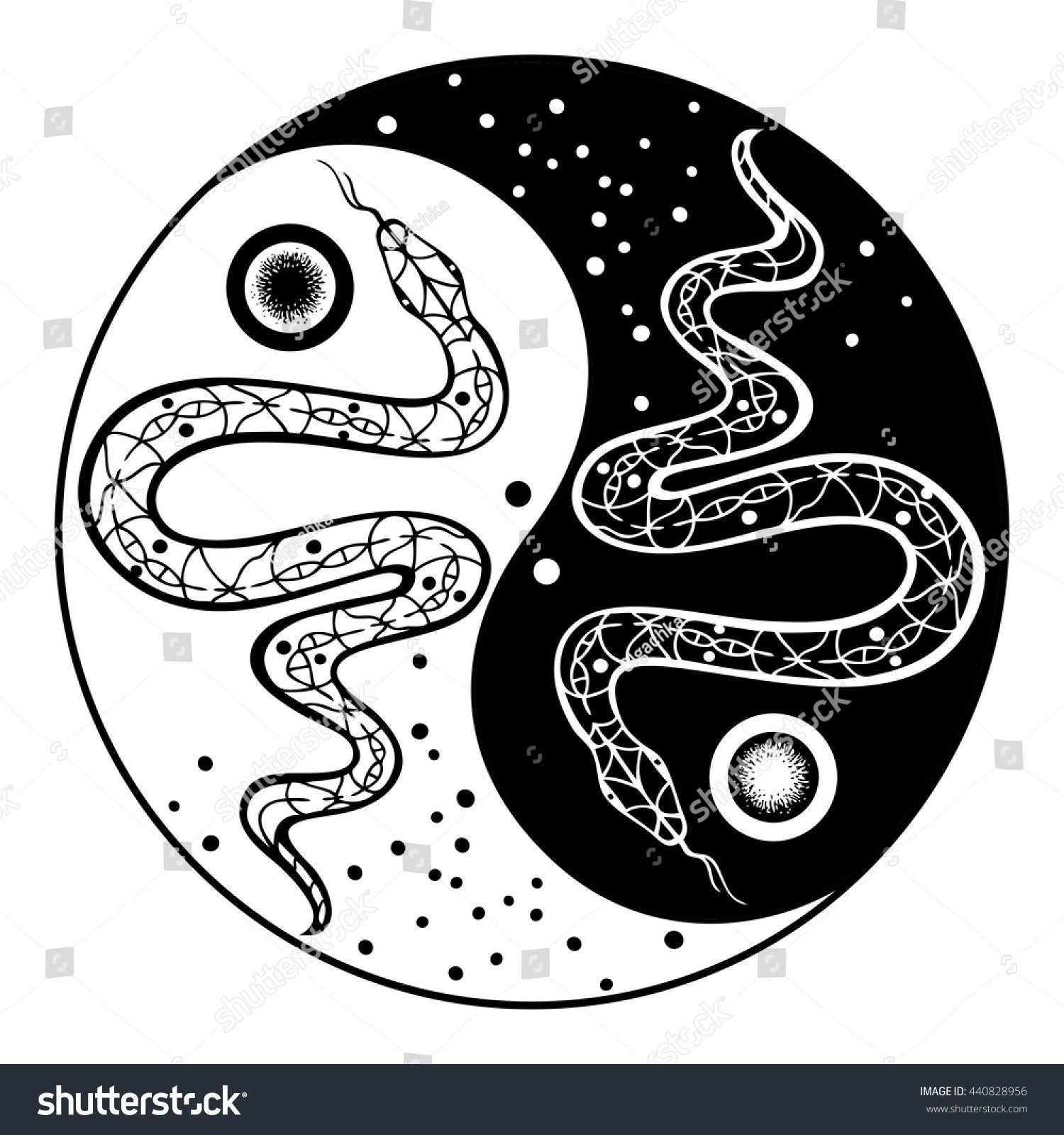 yılan, serpent, yin yang