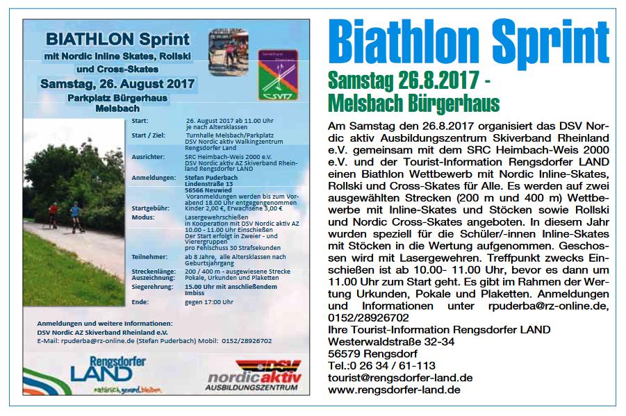 Biathlon Wettbewerb Melsbach 2017